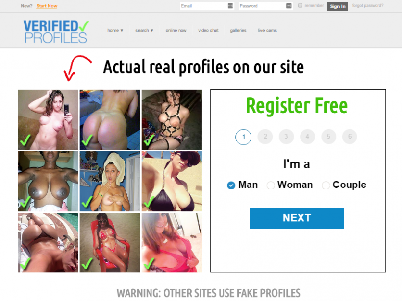 No profile dating site