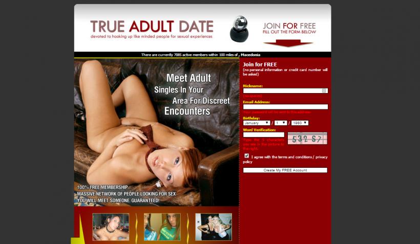 True adult date log in
