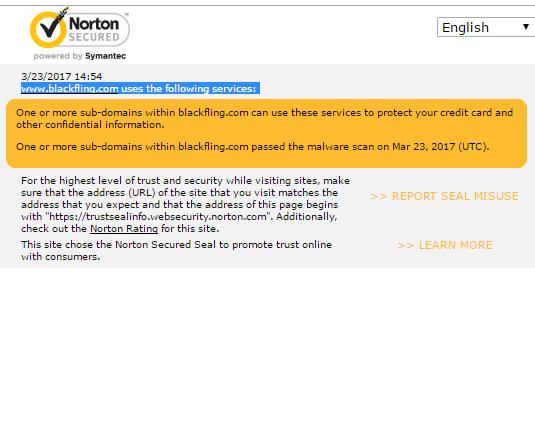 Black Fling Norton