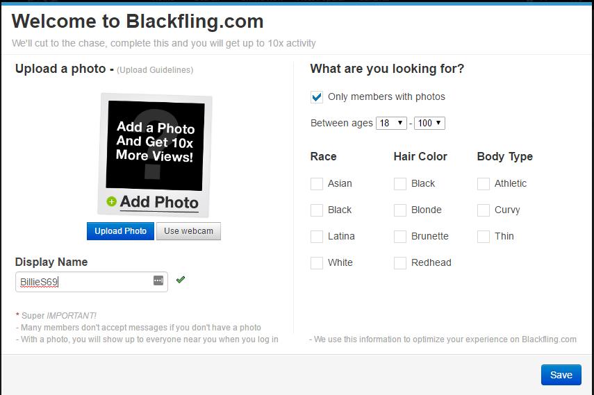 BlackFling.com strong profiles