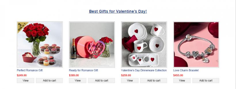 CharmDate.com virtual gifts