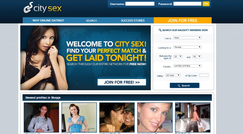 CitySex.com Screencap
