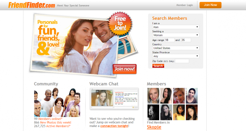 Adult dating site promotion