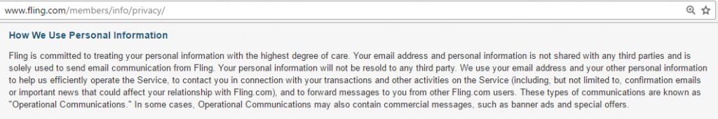 Fling.com privacy protection