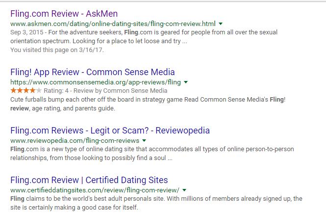 Fling.com great reviews