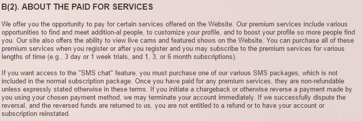 Loveaholics.com hidden costs