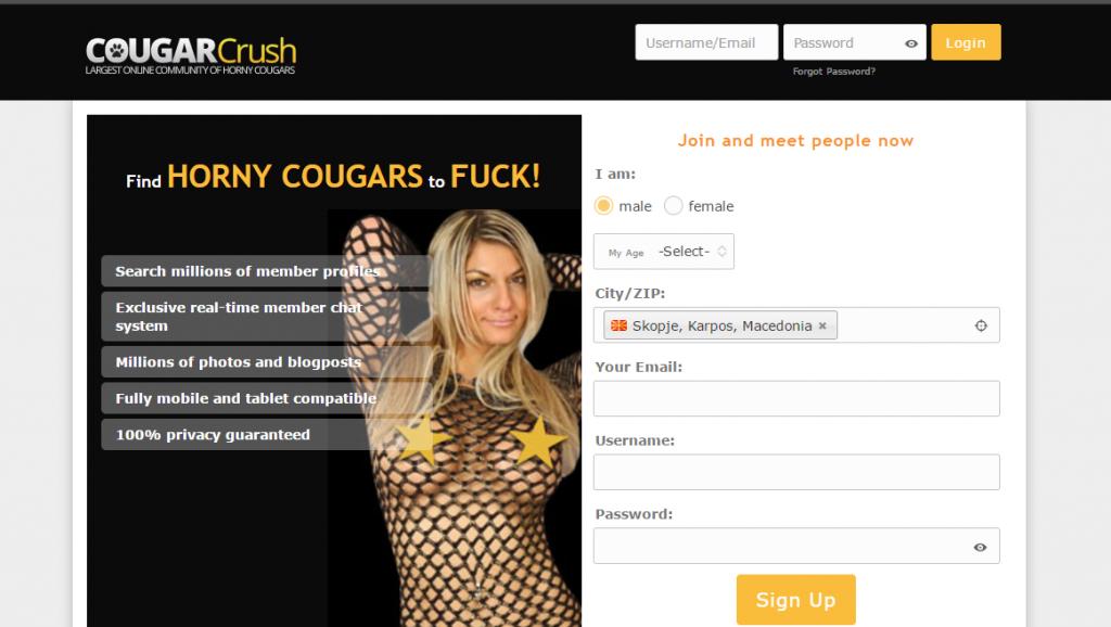 CougarCrush.com screencap