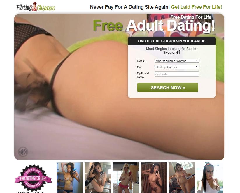 FlirtingCheaters.com screenshot