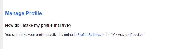 Sendnudez-profile deactivation