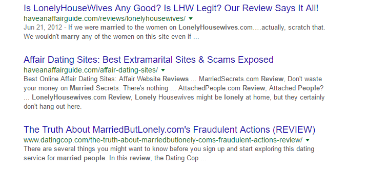 Married & Lonely People terms reviews