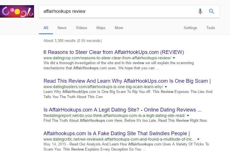 Affair hookups reviews