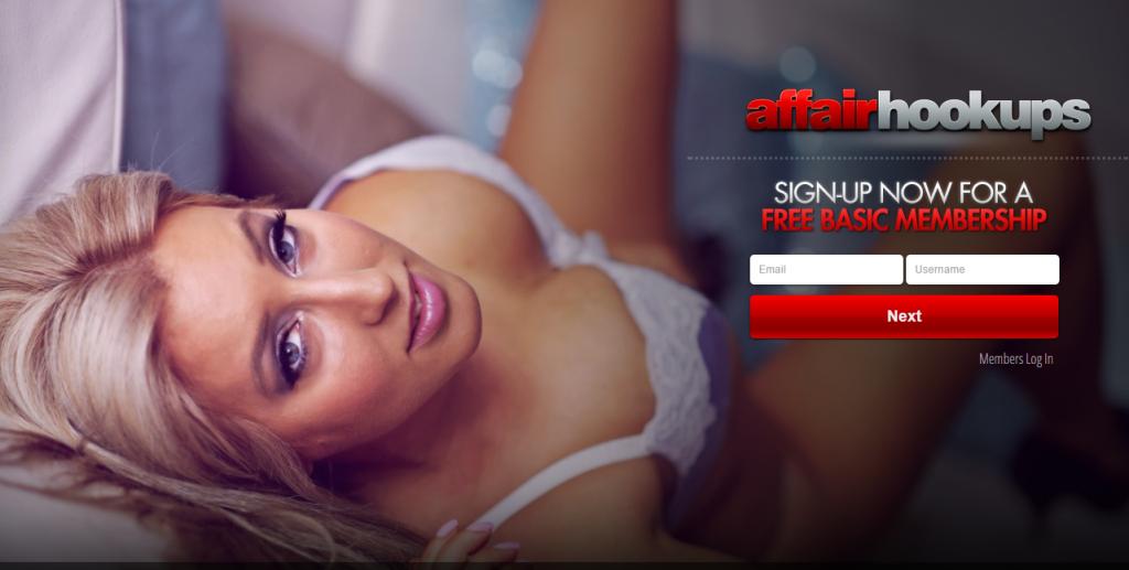 Affairhookups.com screencap