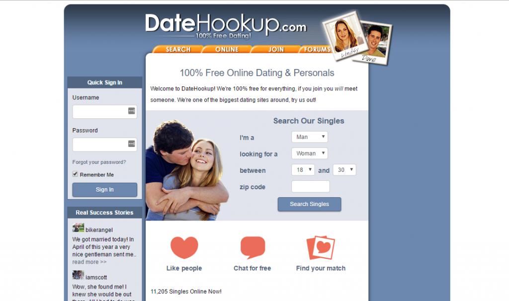 DateHookup.com screencap