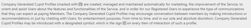 Fuckbook company-generated profiles