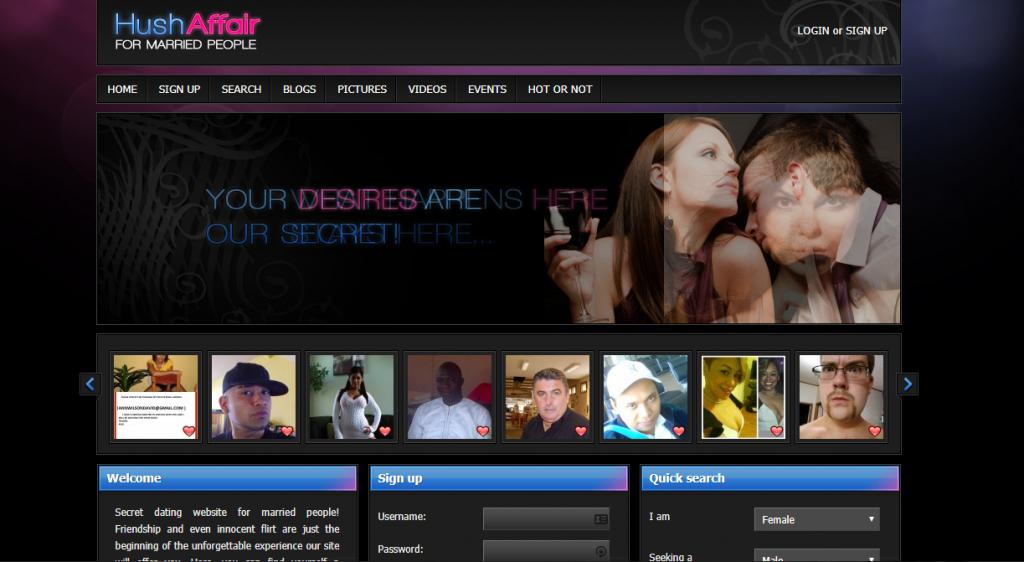 HushAffair.com screencap