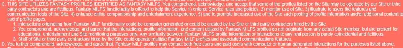 Milfder the purpose of fantasy milf profiles