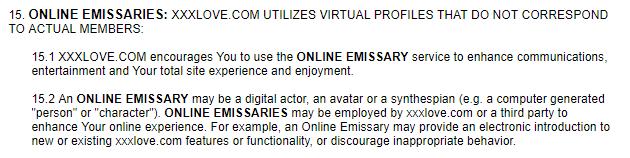 XXX Love online emissaries