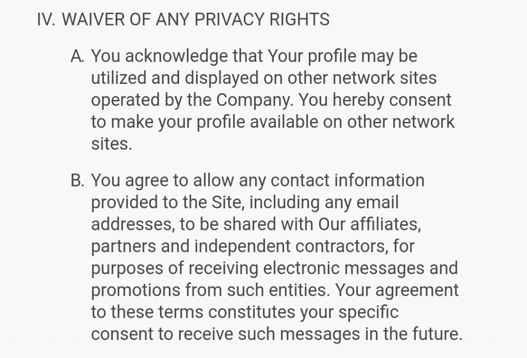 live Flings privacy