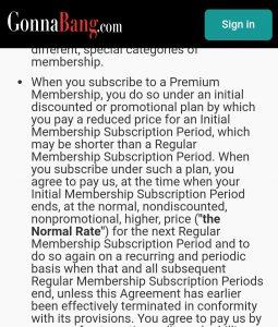 gonna bang Premium fees