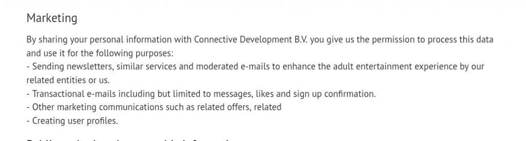 my secret fling marketing privacy