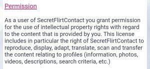 secret flirt contact permission