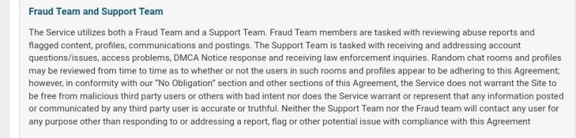 snap candy Support and fraud teams