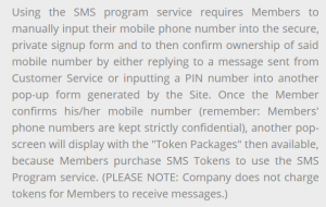 SMS charges