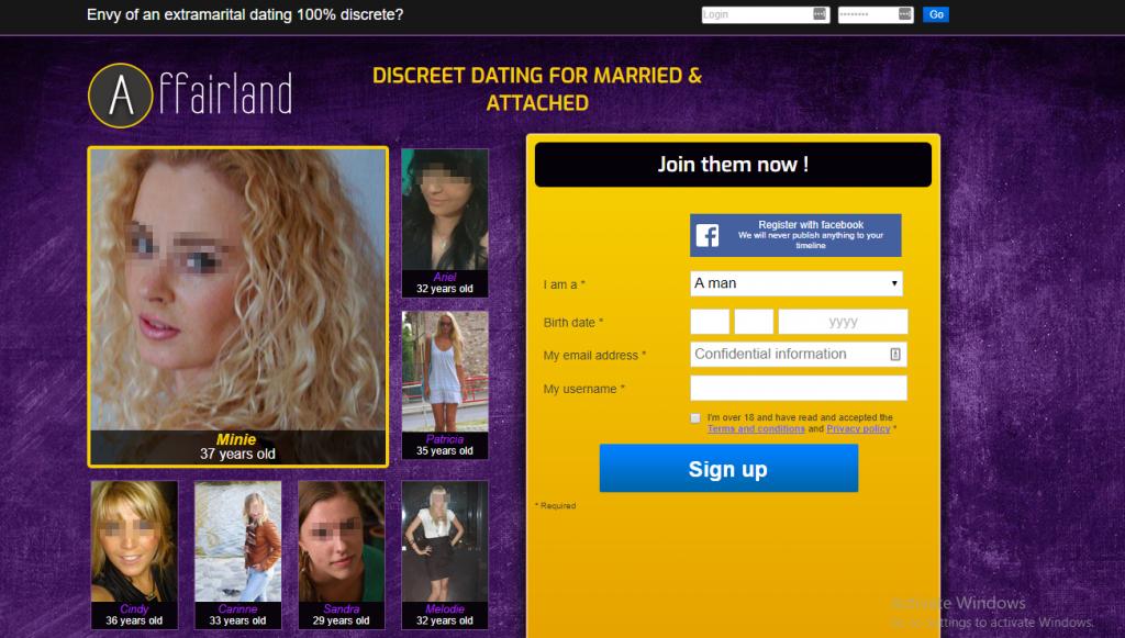 AffairLand.com screencap