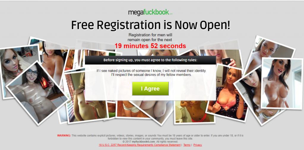 Hotties-Finder.com redirects to MegaFuckbook and MyFuckbook