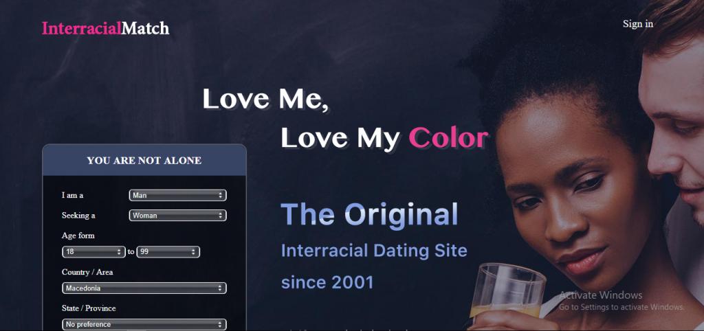 InterracialMatch.com screencap