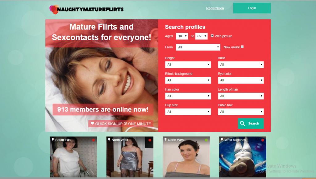 NaughtyMatureFlirts.com screencap