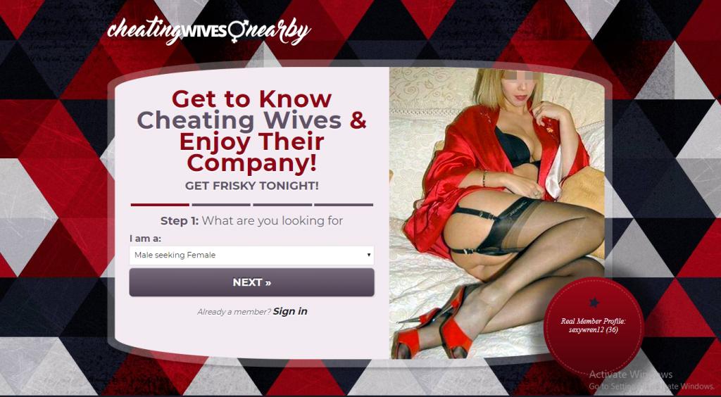 CheatingWivesNearby.com screencap