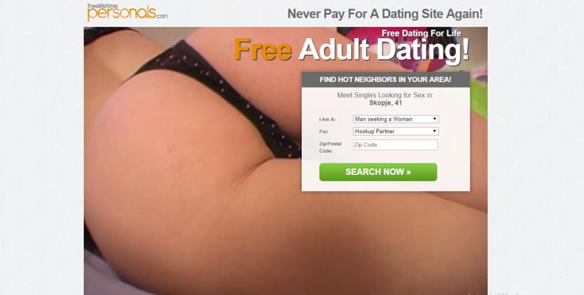 FreeLifeTimePersonals.com screencap