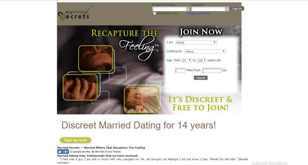 marriedsecrets.com screencap