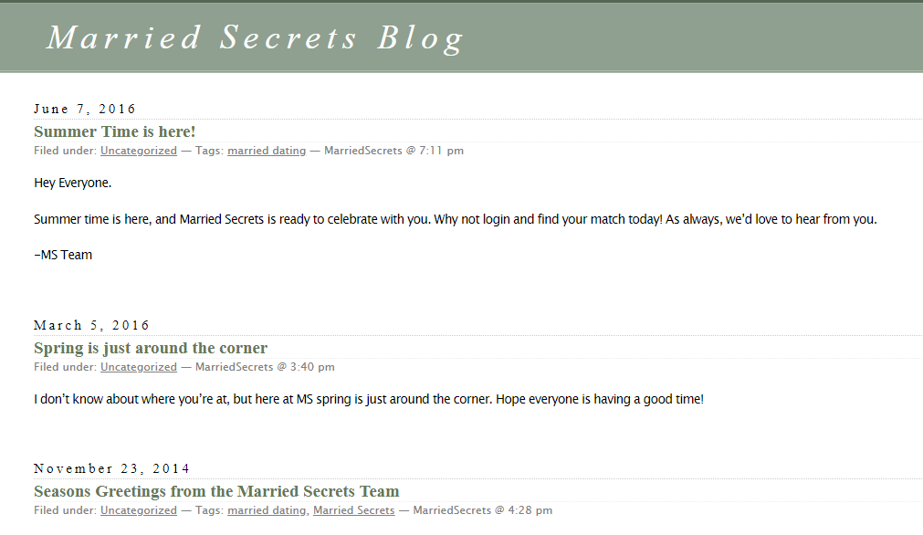 married secrets blog