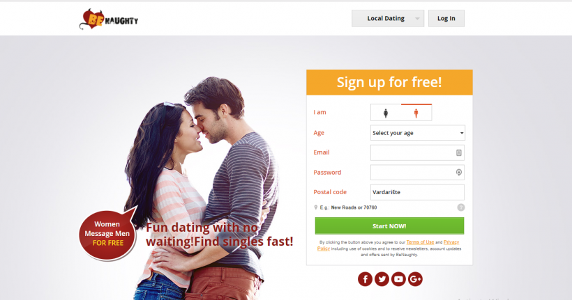 Benaughty online dating site