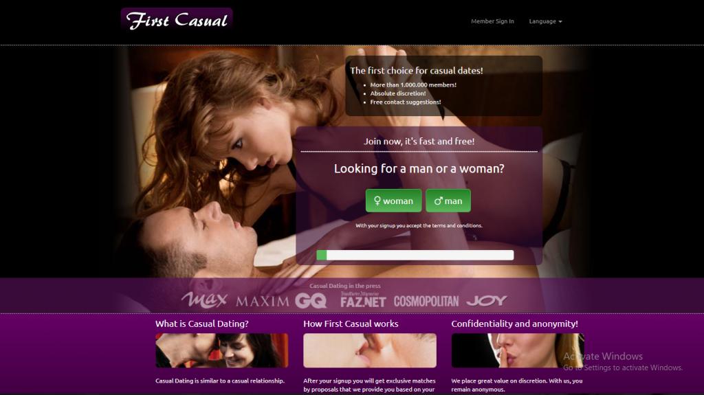 FirstCasual.com screencap