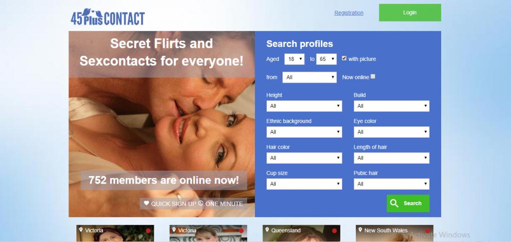 45PlusContact.com screencap