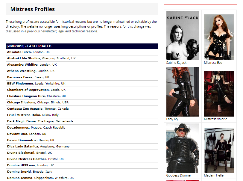Sin Search review MISTRESS PROFILES