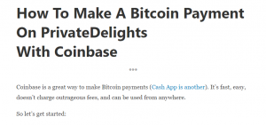 Private Delights Review Bitcoin Payment