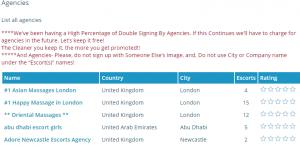 Sky Escorts review list of agencies
