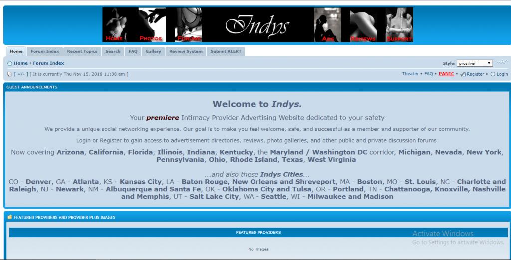 Indys Review screenshot
