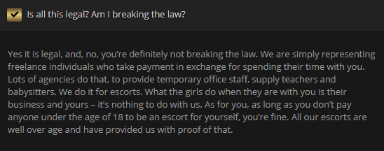 Greater Toronto Escorts review legality