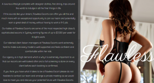 Flawless Escorts review earnings