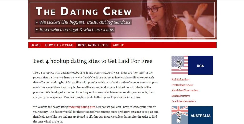 Dating crew Review home page