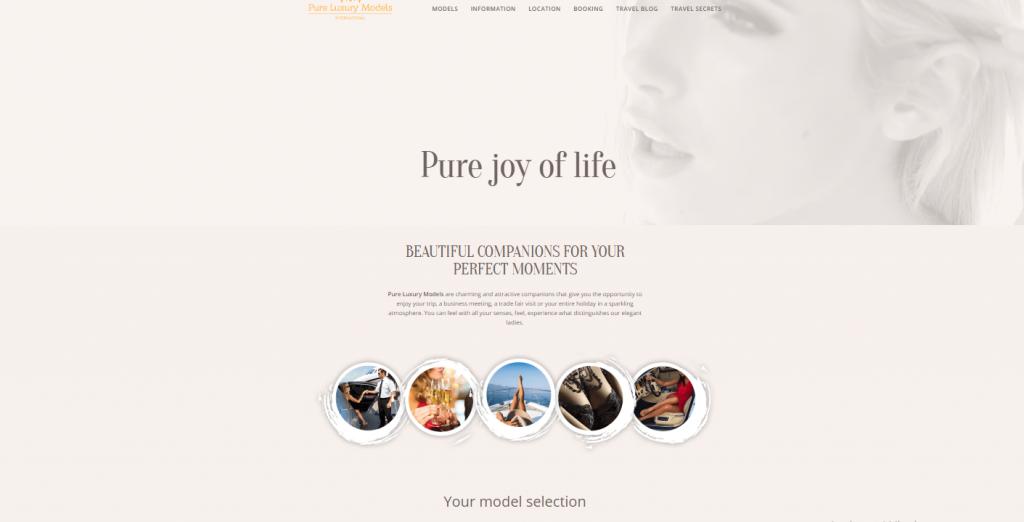 Pure-Luxury-Models.com screenshot