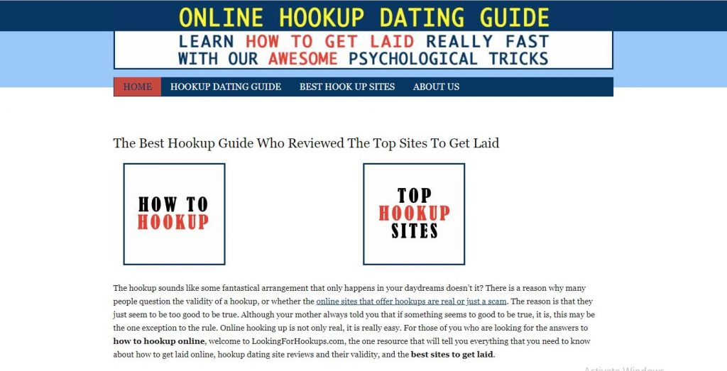 LookingforHookups Review home page